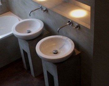 Home pavimenti in resina e rivestimenti in microcemento - Lavabo bagno resina ...