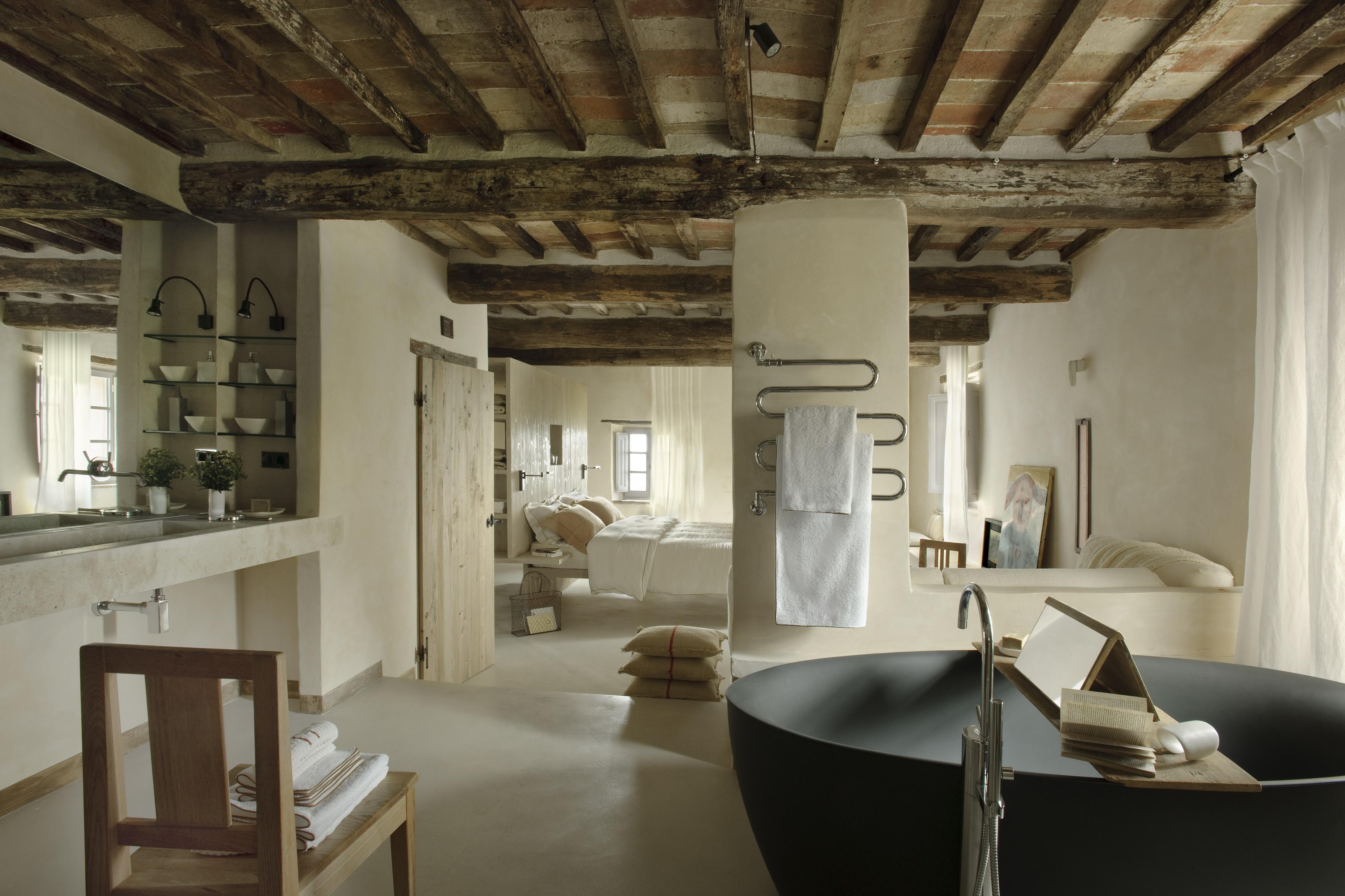 pareti bagno in resina
