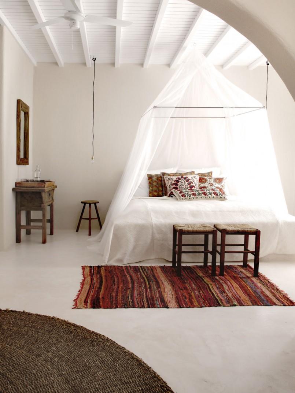 Dettaglio pavimento in resina camera da letto |